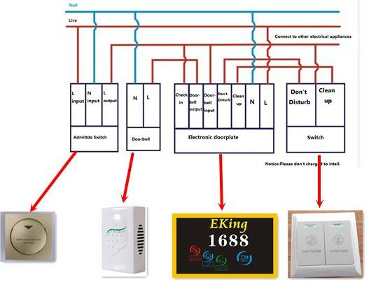 Key Card Wiring Diagram : Led door screen ekinglock